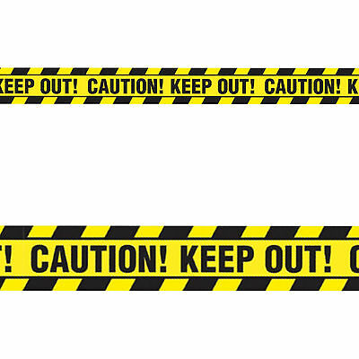 20ft Classic Halloween Party Caution Keep Out Tape Streamer Banner Decoration