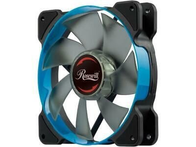 Rosewill 120mm Case Fan with Blue LED and PWM (Pulse Width Modulation) Function,