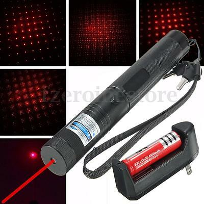 Laser Pointer Kits 532nm 1mw Red Light Pen Lazer Beam + 18650 Battery + Charger