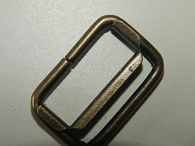 Rectangle Rings With Slider-25 Pcs.-Antique Brass-1 Inch