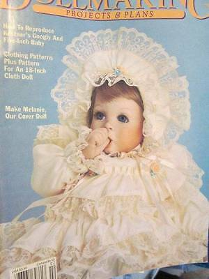 Dollmaking Summer 1990 Magazine-Red Riding Hood/Googlies/Melanie/Claire Paper Do