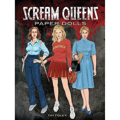 NEW Scream Queens Paper Dolls - 16 Leading Ladies From The Most Terrifying Films