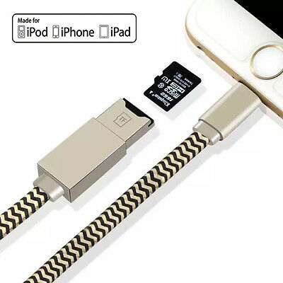 Flash Drive Data Cable Memory TF MicroSD Card Reader for iPhone 7 6 6S pLUS iPAD