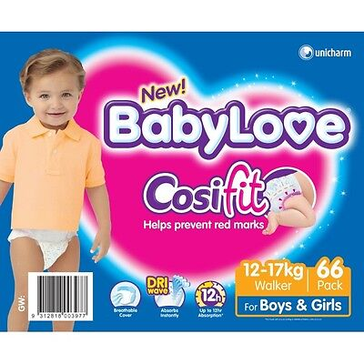 Babylove Nappies Walker JUMBO 66 (Limit of 1 per order) NEW