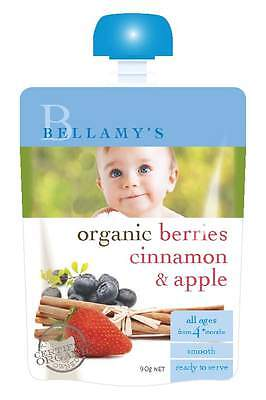 Bellamys Berries Cinmnamon & Apple 90G NEW Cincotta Chemist