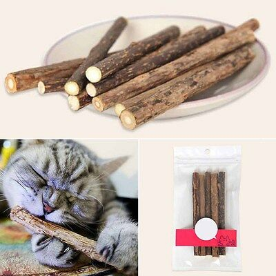 Pure Catnip Cleaning Teeth Sticks Toothpaste Stick Cat Wood Cat Snacks Natural
