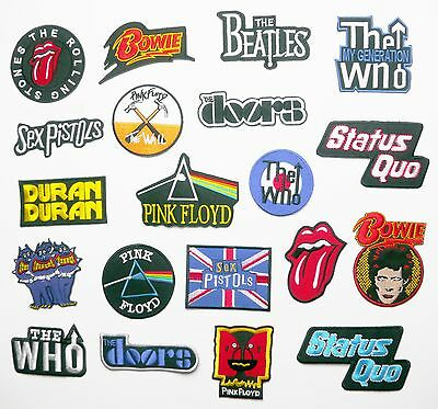 CLASSIC ROCK BAND ARTIST MUSIC PATCHES - Any Patch Only 99p, UK SELLER! NEW