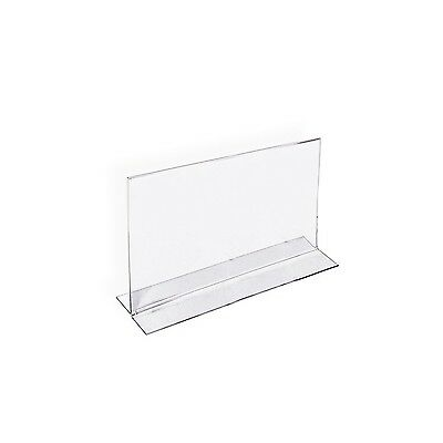 Azar 152727 Horizontal Double-Sided Stand Up Sign Holder 10 Count