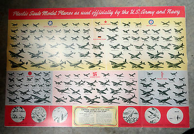 1944 Recognition Id Model Poster W/ Allied & Axis Model
