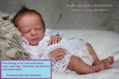 """Realborn ~ Sleeping Baby Clyde ~ 18"""" Time Limited Release Doll Kit 785"""