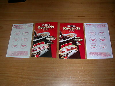 Tim Hortons 2014 / 2015 USA Coffee Reward Cards