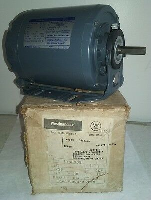 NOS WESTINGHOUSE Model 316P309 Electric Motor NEW! 316p 309