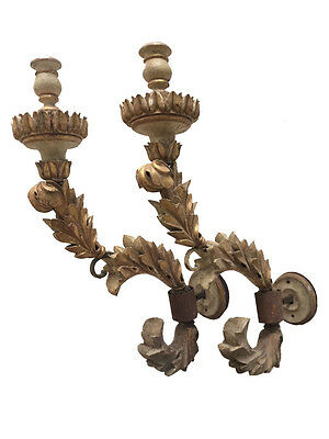 Huge Magnificent pair of Brazilian Neo Classical 18th Century Wall Torcheres