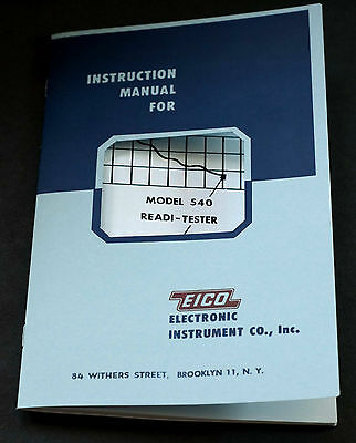EICO Model 540 Ready-Tester Instruction Manual