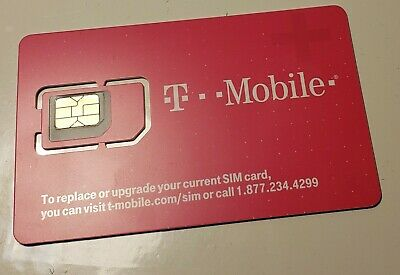 T-Mobile Nano Sim Card 4G LTE UNACTIVATED, REPLACEMENT SIM CARD
