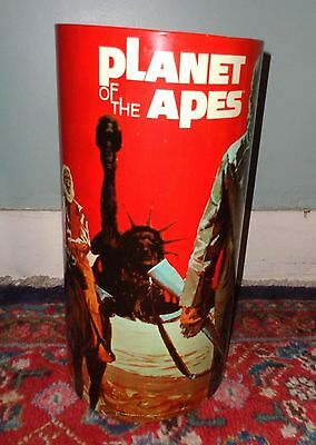 scarce original 1967 Planet of the Apes tin litho trash can