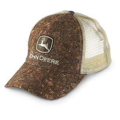 New John Deere Tree bark Wood Front Mesh Hat Cap Snapback Deere Season Outdoor