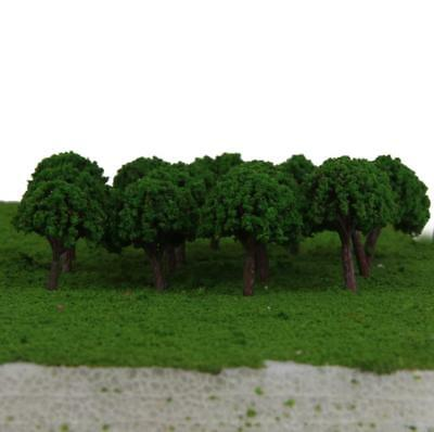 50pcs Train Model Trees Diorama Layout Scenery Landscape Scale 1/500