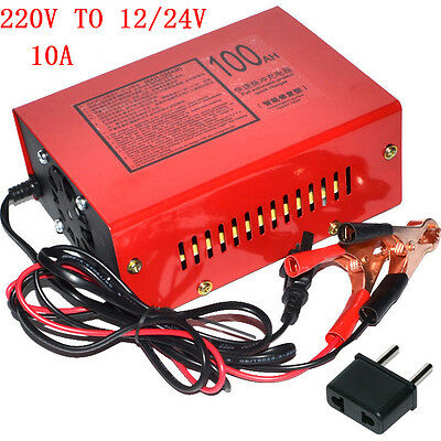 12V/24V 100AH Electric Car Dry&wet Battery Charger Intelligent Pulse Repair AM