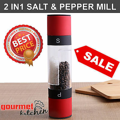 CLEARANCE! NEW: TWO IN ONE Salt & Pepper Mill Grinder Muller Kitchen Tool