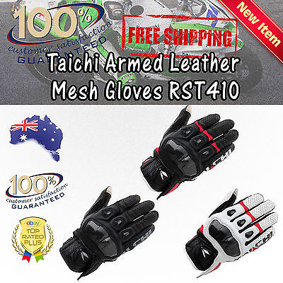 RS Taichi RST410 Armed Mesh Motorbike Gloves Outdoor Sports Motorcross  OffRoad