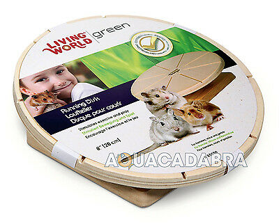Living World Green Wooden Running Disc For Hamster Mouse Gerbil Exercise Play