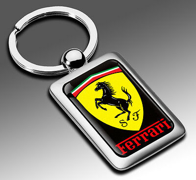 neuf porte cles cle en metal voiture auto tuning ferrari embleme keyring key eur 5 99. Black Bedroom Furniture Sets. Home Design Ideas