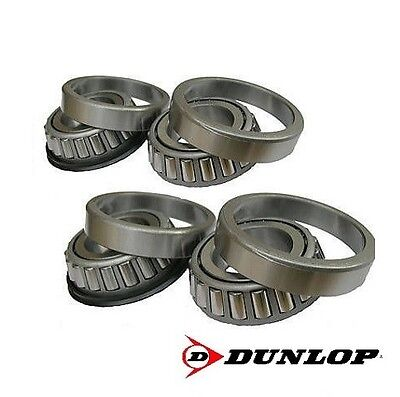 """Dunlop 1"""" One Inch Trailer Suspension Units Stub Axle Hub Tapered Wheel Bearing"""