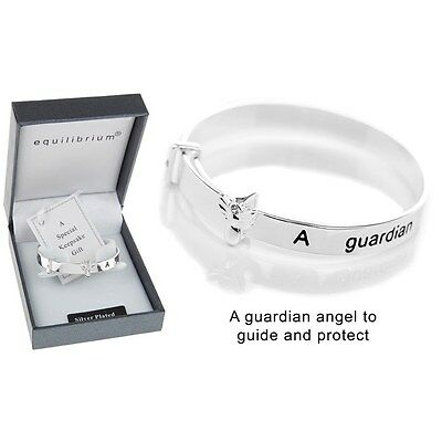 bracelet Equilibrium Silver Plate Christening keepsake Bangle gift childs baby