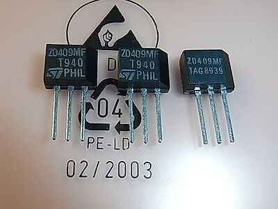 Z0409MF TAG  Philips STMicroelectronics TRIAC 4A 600V, 1pcs