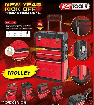 ks tools fahrbarer werkzeug trolley 3tlg werkzeug kst. Black Bedroom Furniture Sets. Home Design Ideas