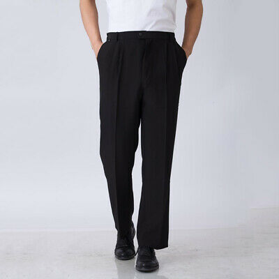 Chef Work Pants Restaurant Hotel Staff Straight Trousers Black Uniforms Slacks