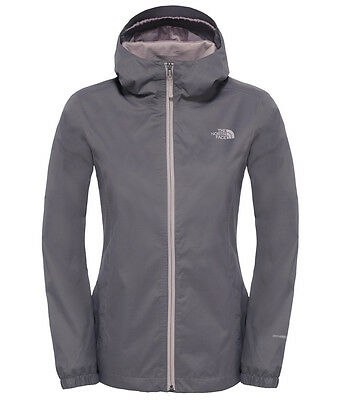 The North Face Womens Quest Waterproof Jacket  (Rabbit Grey Black/Heather)