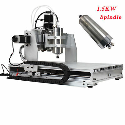 New 3 Axis CNC 6040 1500W Router/Engraving Water Cool Spindle USB Port Mach3