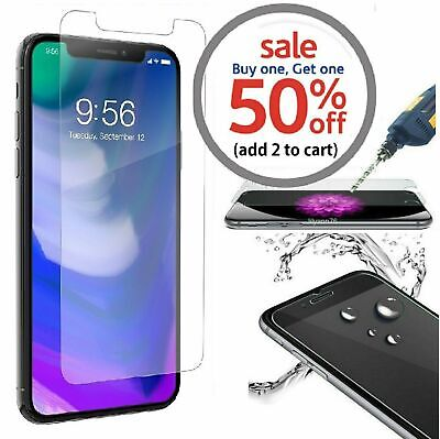 iPhone 5 6 7 8 Plus X XS XR XS Max Premium Tempered Glass Screen Protector