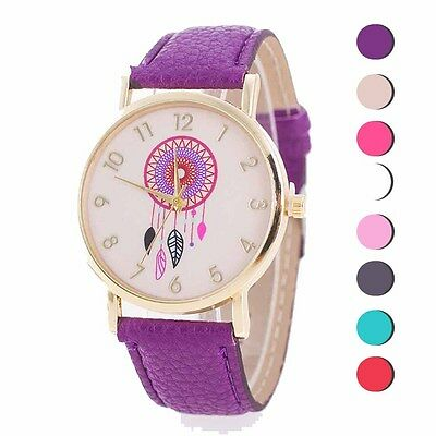 PU Leather Anchor Watch Girl's Analog Quartz Wristwatch Beautiful Elegant Lady
