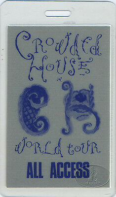 Crowded House 1988 Laminated Backstage Pass Neil Finn