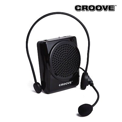 Croove Rechargeable Voice Amplifier, with Waist/Neck Band & Belt Clip