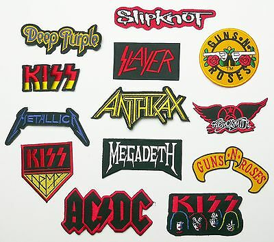 HARD ROCK METAL PATCHES - 30+ Designs, Any Patch Just £1.20, UK SELLER!