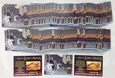 170 Sets 2006 Topps The Art Of  The Lord of The Rings Masterpieces P1 P2 Promo