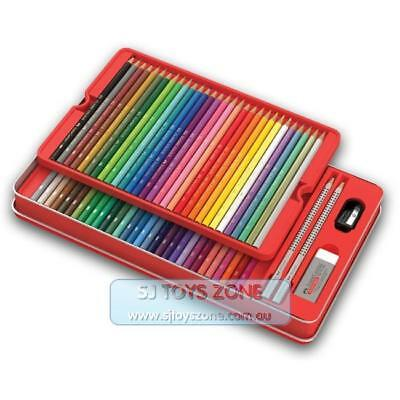 Faber-Castell 60 Classic Colour Pencil Art Sketch Drawing Gift Tin Wheel Sharpen