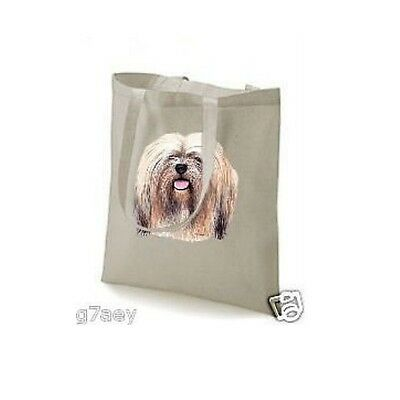 Lhasa Apso Face Design Printed ECO Tote Shopping Bag