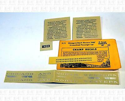 Champ O Decals Chicago and North Western Passenger Car Silver P-71 400