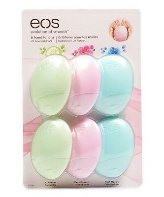 NEW EOS 6 Hand Lotion Pack Cucumber Berry Blossom Fresh Flowers FREE SHIPPING