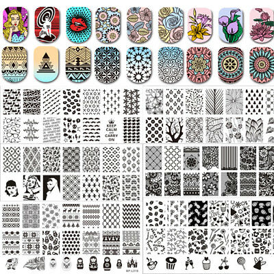 BORN PRETTY Nail Art Stamping Image Plate Manicure Stamp Stencil Template DIY