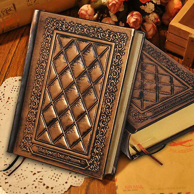 Retro Vintage Journal Diary Notebook Blank Hard Classic Cover Sketchbook Paper