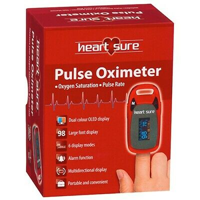 Heart Sure Pulse Oximeter Saturation Fingertip Blood Oxygen Meter Monitor Omron