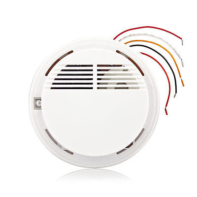 Wired Fire Smoke Sensor Detector Alarm Tester For Home Security System NEW