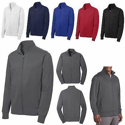 Men's Performance, Anti-Static Fleece, Zip Up, Warm-Up Jacket, Pockets, Xs-4Xl