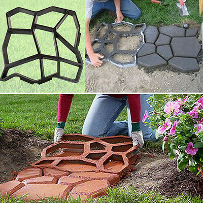 Practical Path Maker Mold Driveway Paving Patio Cement Brick Stone Road DIY Mold